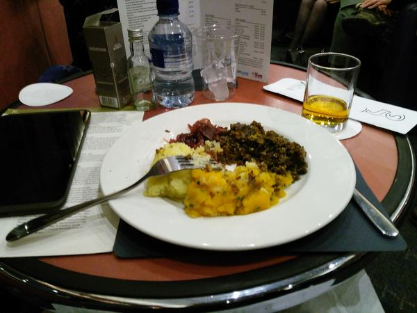 Supper on the Caledonian Sleeper