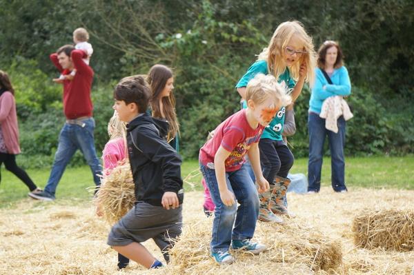 Children play at Milton Country Park Autumn Festival - Sept 2014