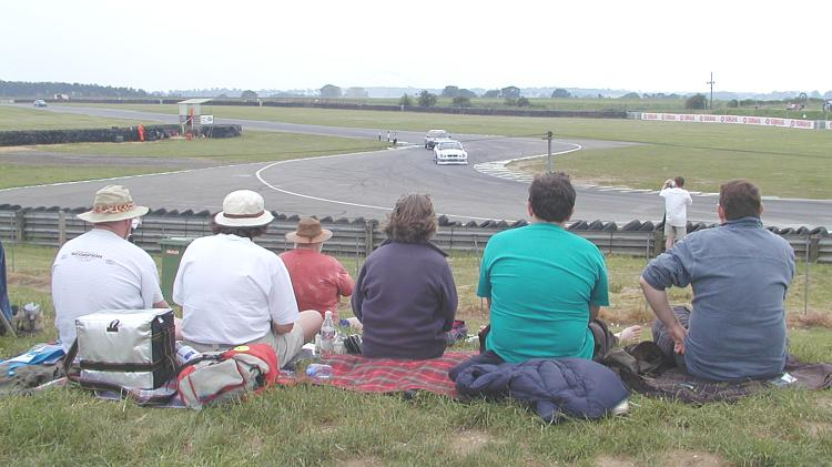 Watching the saloon cars