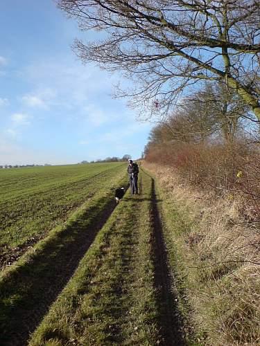 Beth and Jake on a byway