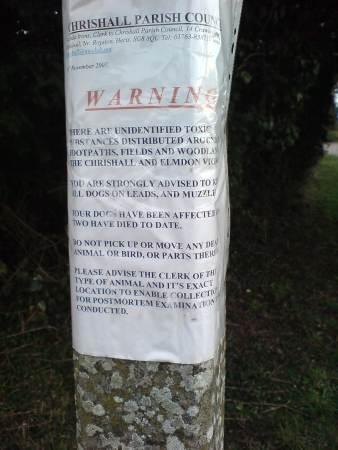 Poison warning