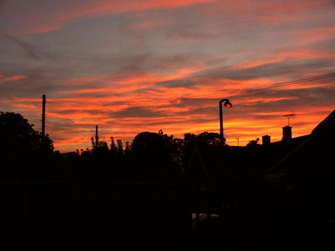 Sunset over Milton 2008-08-25