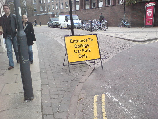 Hobson St shut but Collage Car Park still has access