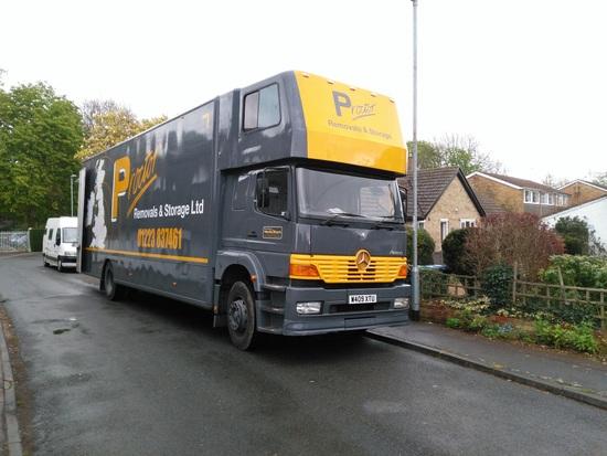 Proctor's van starting to load up
