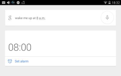 Google Now screen shot