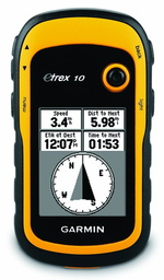 Garmin Etrex 10 in route mode