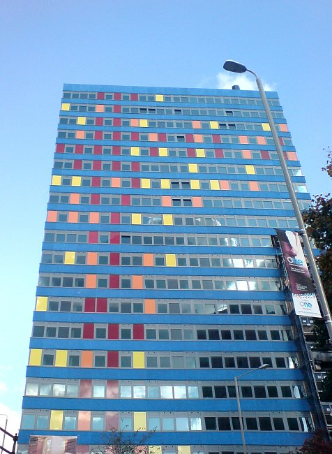 tower block in Leicester