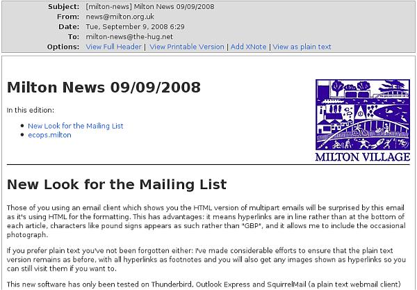 milton-news posting