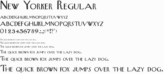 New Yorker font sample