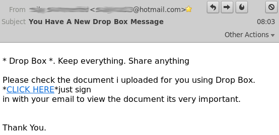Poisoned email