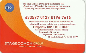Stagecoach Smart card - back