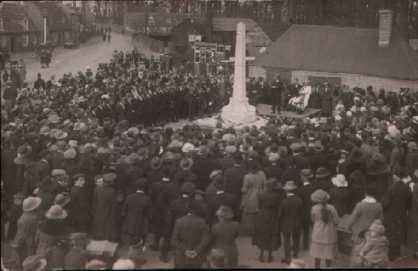 Milton War Memorial dedication 1922